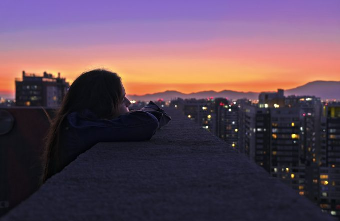 Vista desde un edificio en Santiago Centro, Chile